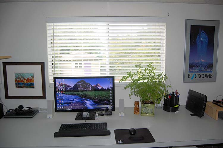 Picture Of How I Setup My Desk For My Home Office.